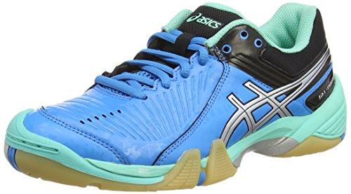 ASICS Gel-Domain 3 - Zapatillas de Balonmano para Mujer, Color Azul (Aqua Mint/Silver/Electric Blue 7093), Talla 42.5