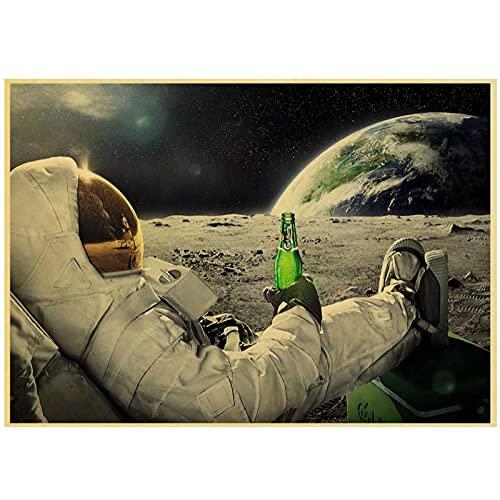 JLFDHR Interesante Cerveza Vino Carteles Retro E Impresión Lienzo Pintura Hogar Arte De La Pared Decoración De La Sala De Estar-50X70Cmx1 Sin Marco