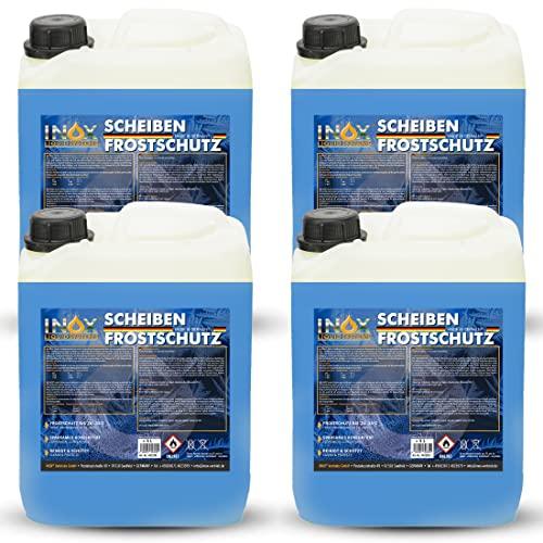 INOX® Arctic Scheibenfrostschutz Konzentrat - 4 x 5L - Auto Frostschutzmittel Scheibenwaschanlage - Scheibenwischwasser bis -35°C - schlierenfrei - mischbereit – Citrusduft