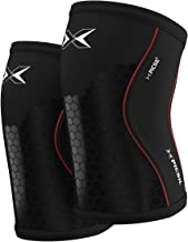 PICSIL Hex Tech kniebeschermers, gebruikt door powerlifting- en gewichthefkampioenen, extra steun op getroffen gebieden do...