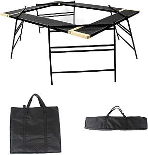 テキーラテーブル セット 収納ケース付き 変形自在 テーブル プレート アイアンレッグ 焚き火テーブル アウトドア キャンプ 用品 グッズ 30日保証付き