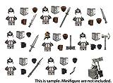 Fuerza del Enano con armaduras, yelmos, Pan y Armas compatibles con Legos