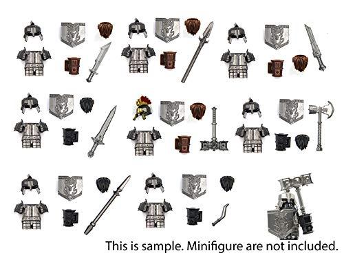Magma Brick Zwergenkraft(Dwarf's) mit Rüstungen, Helmen, Brot und Waffen kompatibel mit Legos