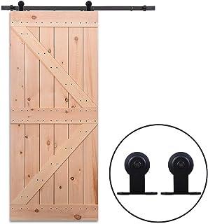 274cm//9FT Schiebet/ürbeschlag Set Schiebet/ürsystem Zubeh/örteil schiebe t/üre Schiebet/ür schiebet/ürbeschlag set//sliding barn door hardware Heart Hangers
