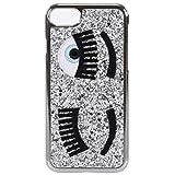 Chiara Ferragni Cover Compatibile iPhone - Glitter Argento/Silver - Compatibile con iPhone 6 Plus / 6S Plus - 7 Plus / 7S Plus - Stile Italiano