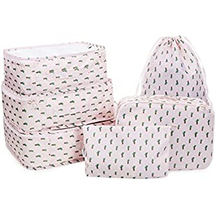 Hanging Travel Toiletry Bag Nylon Portable Makeup Comestic Organiser Folding Travel Wash Bag With Detachable Clear Compartment Idea For Men Women Travelers Long-distance Drivers (CACTUS-6 PCS):Greatestmixtapes