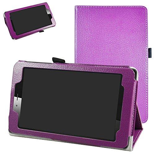 Mama Mouth vodafone Smart Tab Mini 7 / ALCATEL pixi 4 7 Funda, Slim PU Cuero con Soporte Funda Caso Case para 7' vodafone Smart Tab Mini 7 / ALCATEL pixi 4 7 Android Tablet 2016,Púrpura