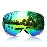 GANZTON Skibrille Snowboard Brille Doppel-Objektiv UV-Schutz Anti-Fog Skibrille Für Damen