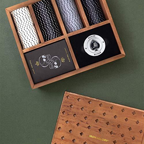 Iron And Glory Hochwertiges Poker-Set, Braun, 18.6 x 21.6 x 7.5cm