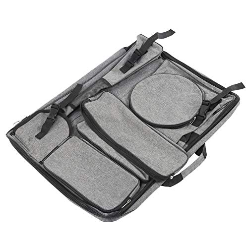 Mochila de pintura gris 4k multifuncional arte impermeable bolsa de lona bolsa de tablero de Dawing para principiantes de dibujo