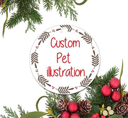 Dozili Custom huisdier Ornament, Gepersonaliseerd kerst Ornament, Geheime kerstcadeau, Aangepaste hond Ornament, Keramisch Ornament, kat Ornament