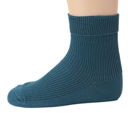 Shimasocks Socken 100{7d80471f14cddfd6441f3df51937560a322e01c8b903bbfef04eef4a025b5cbd} Organic, alle Farben, uni, ab Gr. 17/18, Farben alle:petrol, Größe:33/34