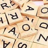 Letras Madera Azulejos Letras de Madera de Numeros Artesanía Alfabeto Rompecabezas Alfabetos Artesanía