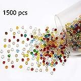 DAHI glasperlen ca.1500 STK kristall Perlen zum auffädeln Bastelperlen Schmuckherstellung DIY Halsketten Armband (1500stk/4mm)