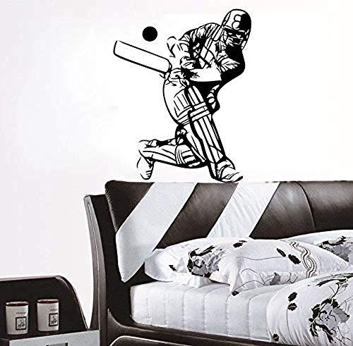 Wall StickerNew Wohnkultur Zubehör Cricket Sport Player Wandaufkleber Vinyl Abnehmbare Wohnzimmer Decoration73X59Cm