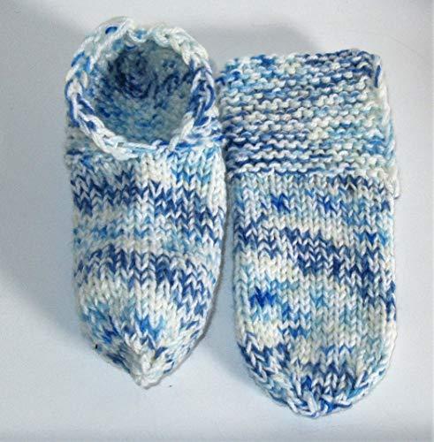 Selbstgestrickt/Handgemacht/Bettschuhe/Puschen/Stricksocken/RegiaWolle/Gr 38-39 / Damen/Herren/Wintersocken/Warme Socken/Socken/Strümpfe