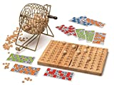 Cayro - Bingo de Luxe - Juego Tradicional - Juego de Madera y Metal - Juego para niños y Adultos - Juego de Mesa (635)