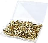 WOWOSS 500 Pezzi Mini Fermacampioni Scrapbooking, Fissaggio per carta Oro con Scatola di Stoccaggio