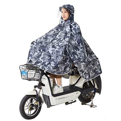 Fiets regenjas enkele dikke waterdichte poncho dames rijdende heren regenjas volwassen rijdende accu auto regenjas-4XL