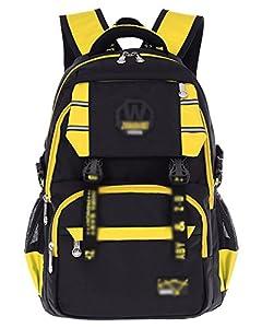 Mochila Niño Mochilas Escolares Impermeable de Morrales de Multifunción Viajes Volver Packs Amarillo Un tamaño