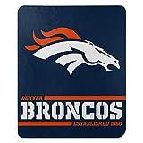 Northwest NFL Denver Broncos 50x60 Fleece Split Wide DesignBlanket, Team Colors, One Size