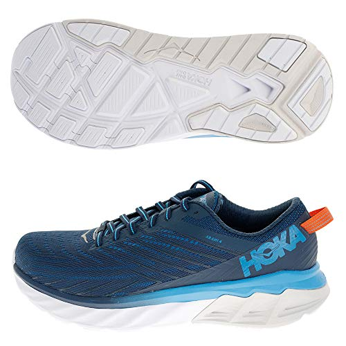 HOKA ONE ONE Men's Arahi 4 Running Shoes, Blue-Navy Blue, 10 US
