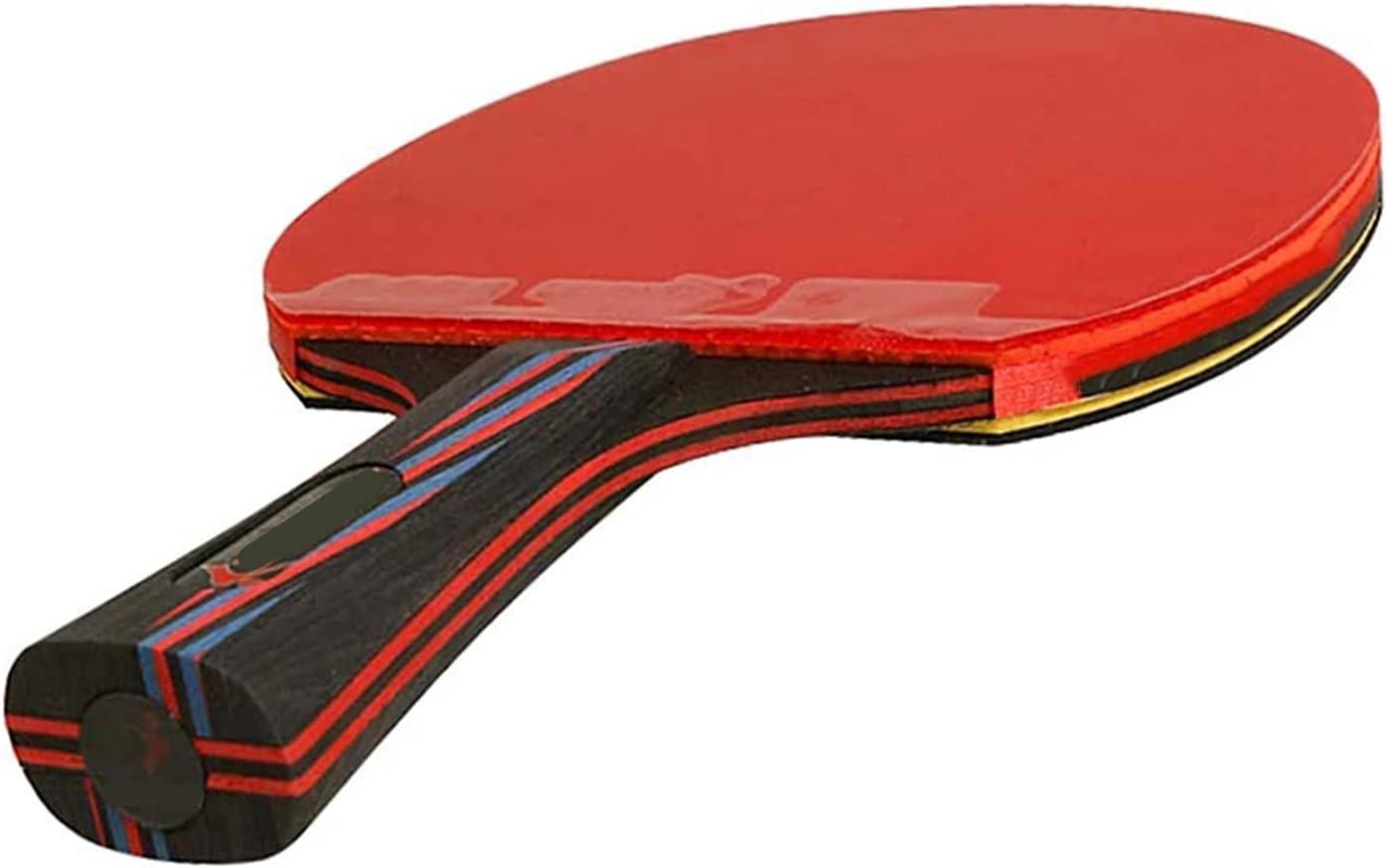 Raqueta De Ping Pong De 6 Estrellas, Nano Carbone Penis Penis Completa DE Tienda DE Tienda DE Entrenamiento con Competencia DE MORDO con ITTF Caucho Aprobado, Principiante Ping Pong, Raqueta,Penhold