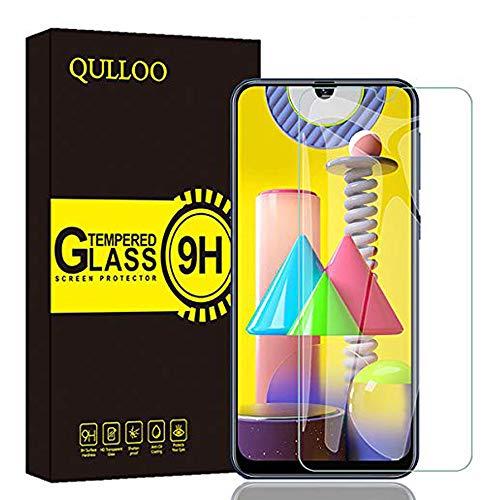 QULLOO Panzerglas für Samsung Galaxy M30s / M31 / M21, 9H Hartglas Schutzfolie HD Bildschirmschutzfolie Panzerglasfolie Handy Schutzglas Glasfolie für Samsung Galaxy M30s / M31 /M21
