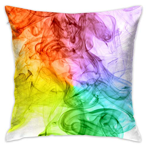 Colored Smoke Decorative Throw Pillow Cover Square Cushion Case for Home Sofa Bedroom Car Chair House Party Indoor Outdoor 18 X 18 Inch 45 X 45 cm