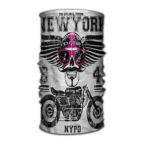 Quintion Robeson Banda para la Cabeza Bandana Deportes versátiles Sombreros, Ciclismo Motocicleta Cráneo Nueva York Hombre Divertido Diseño gráfico Impresión Arte