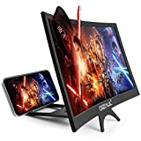 3D Screen Magnifier for Smartphone – Curved HD Mobile Phone Amplifier Screen – Foldable Phone Screen Amplifier – Compatible with Android, iPhone and Gaming Devices – 12-inch Screen Enlarger