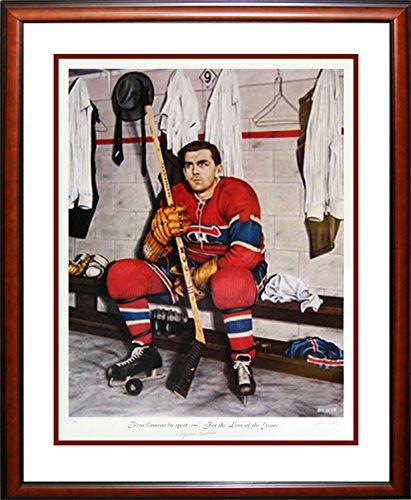 Autógrafo auténtica Sports Ventilador de la NHL Firmado Maurice El Rocket Richard Litografía Pintura–Edición Limitada de 999