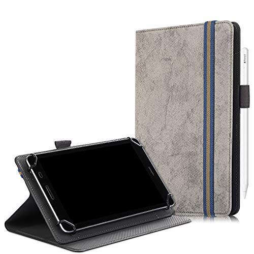 SINSO Universal Case for 7-8 Inch Tablet, Stand Folio Case Cover for All 7-8 Inch Tablet (Samsung Tab, iPad Mini, Fire 7-8,Lenovo Tab E7 7',Huawei MediaPad M5 Lite 8' & Other 7-8' Tablets), Grey