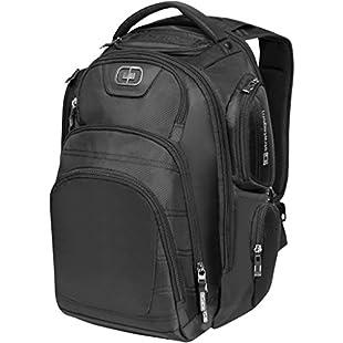 Ogio Stratagem 17in Laptop Backpack (42 x 17.5 x 49.5 cm) (Solid Black):Comoparardefumar