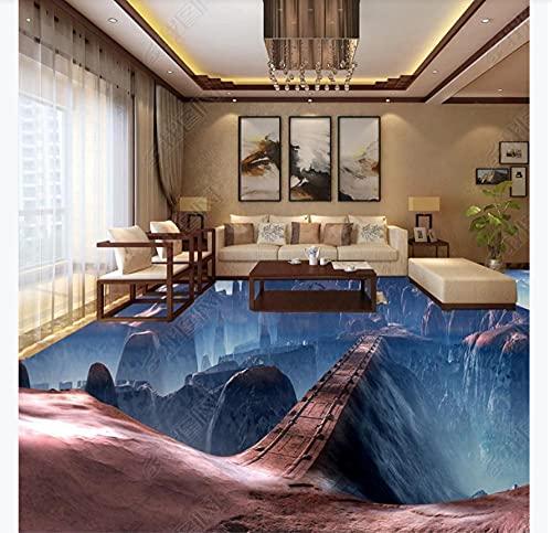 Empaquetado de baldosas autoadhesivas, hermoso juego, escena, puente, piso 3D, pintura estéreo, 200 * 140Cm, pintura al óleo personalizada 168D
