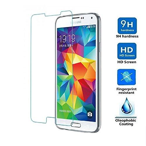 REY Protector de Pantalla para Samsung Galaxy S7Cristal Vidrio Templado Premium
