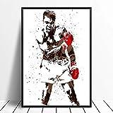 JHGJHK Cartel de Deportes de Estrella de Boxeo Pintura al óleo Abstracta Pintura Arte impresión para niño decoración del hogar Cuadro de Pared decoración de la habitación Pintura 6
