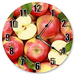 10.5 SWEET RED APPLES - CHERRY APPLES CLOCK - FRUIT CLOCK - Large 10.5 Wall Clock - Home Decor Clock - 3454