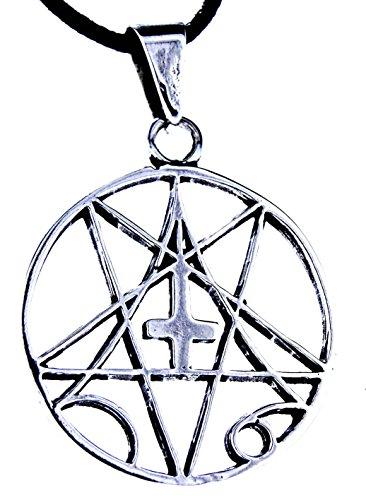 Kiss of Leather Pentagramm Anhänger aus 925 Sterling Silber mit Kette_65 cm