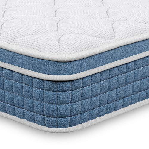 Single Mattress -27cm Hybrid Pocket Spring Mattress,Upgraded 3FT Mattress Single Bed in a Box,...