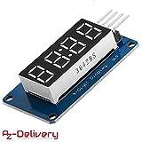 AZDelivery 4 Bits 4-Digit Digital LED Tube display I2C modulo con Clock Display per Arduin...