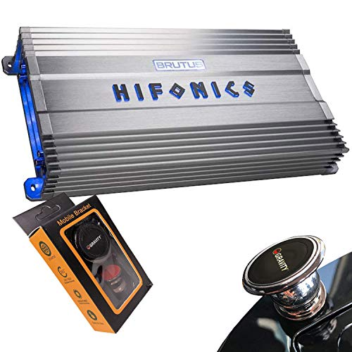 Hifonics ZXX-3200.1D Zeus Mono Channel Car Audio Amplifier (Silver) – Class D Amp, 3200-Watt, Aluminum Heat Sink, Variable Electronic Crossover, Illuminated Logo, Bass Remote Included, 1 Ohm Stable