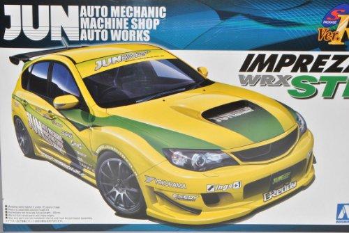 Aoshima Subaru Impreza WRX STI 5 Türer Gelb Tuning Ab 2007 GR 050552 Kit Bausatz 1/24 Modell Auto Modell Auto