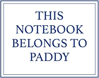 This Notebook Belongs to Paddy