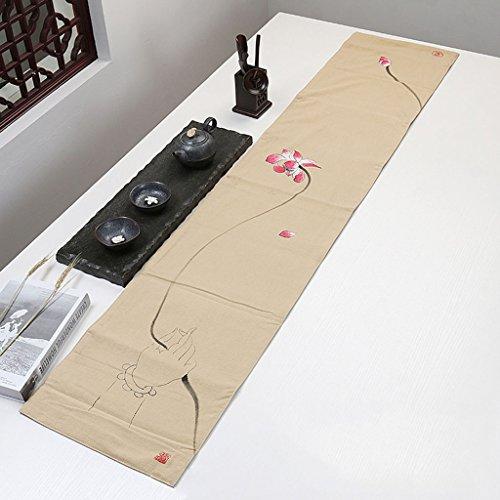 Qiao jin Tafelkleden Linnen Sticks Tafelloper, Tafelmat Decor Kungfu Theeset Thee Slat Mat Placemat tafelkleed