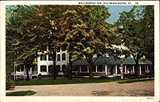 View of Walloomsac Inn Old Bennington, Vermont Original Vintage Postcard