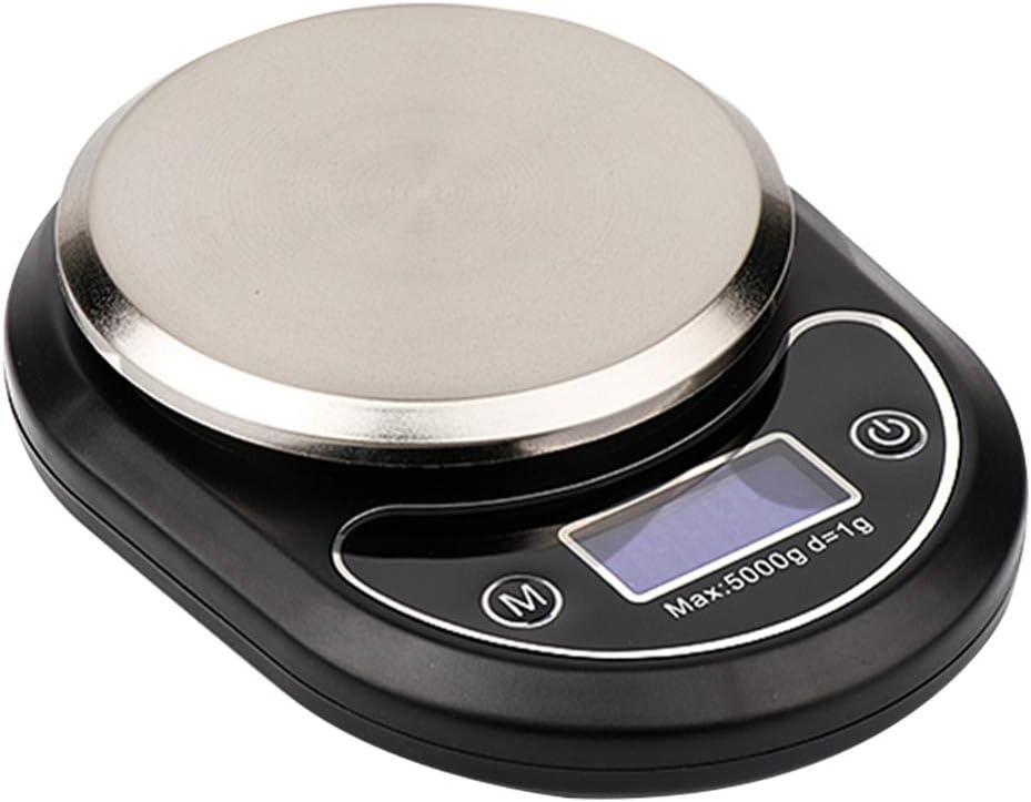 Hemoton 1PC Digital Food Scale Kitchen Electronic Cooking Scale Kitchen Scale for Cooking and Baking (Black, 3kg-0.1g)