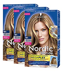 Schwarzkopf Nordic Blonde Coloración - M1 Mechas Radiantes - Pack de 3