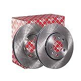 febi bilstein 14404 Serie di dischi freno (2 dischi freno) anteriori, ventilati, numero di fori 5