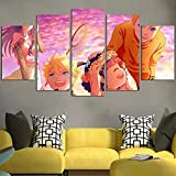 DBFHC Cuadros Modernos Impresión De Imagen Artística Digitalizada Narut Y Hinata Kids Lienzo Decorativo para Salón O Dormitorio 5 Piezas XXL